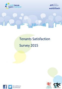 Cover image of the 2015 Tenants' Satisfaction Survey