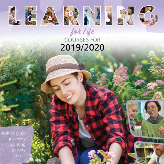 Cover of the adult learning brochure