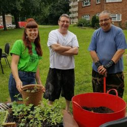 Tenant participation gardening event