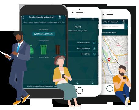 Image of the Cardiff Gov app